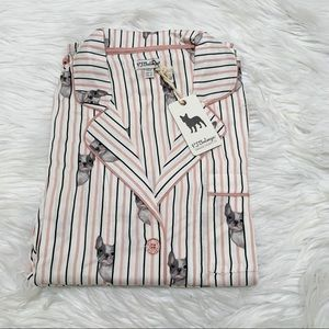 NWT PJ Salvage Luxe Affairs Fog Print Pink Medium